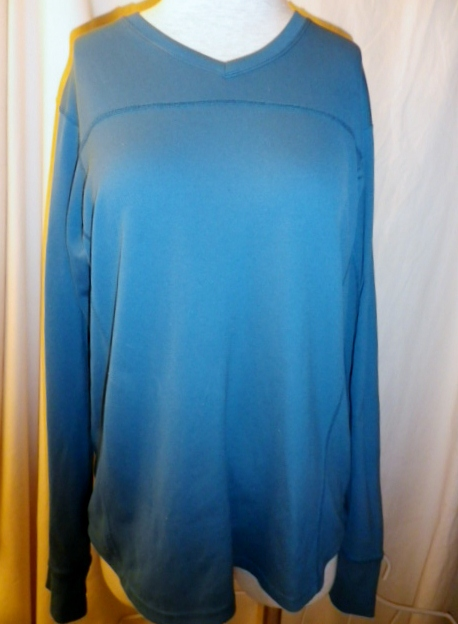 Lululemon Mens Turquoise Teal Blue Long Sleeve Running Technical Top Shirt
