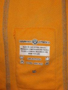 IMGP6089 Lululemon Bright Orange Long Sleeve Turkey Trot Running Shirt Top 204