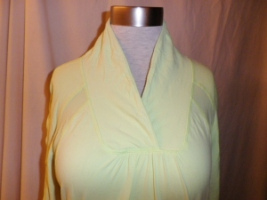IMGP6642 Lululemon Pale Mint Green Shawl Collar Shirred Sleeves Pullover Top 234