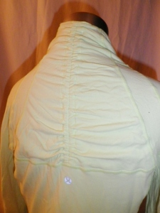 IMGP6652 Lululemon Pale Mint Green Shawl Collar Shirred Sleeves Pullover Top 234