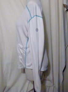 IMGP0388 Lululemon White Long Sleeve Running Technical Top Turquoise Threading 330