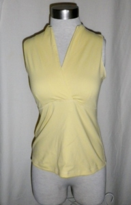 Lululemon Pale Yellow Whisper Lined Front Crossover Yoga Top 358