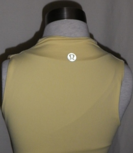 IMGP2768 Lululemon Pale Yellow Whisper Lined Front Crossover Yoga Top 358