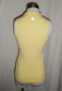 IMGP2772 Lululemon Pale Yellow Whisper Lined Front Crossover Yoga Top 358