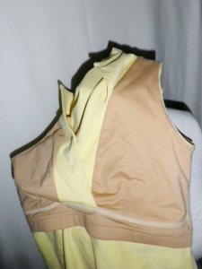 IMGP2774 Lululemon Pale Yellow Whisper Lined Front Crossover Yoga Top 358