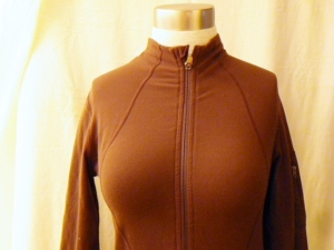 IMGP2959 Lululemon Dark Brown Zippered Jacket Pink Trim 341
