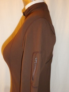 IMGP2965 Lululemon Dark Brown Zippered Jacket Pink Trim 341