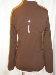 IMGP2967 Lululemon Dark Brown Zippered Jacket Pink Trim 341