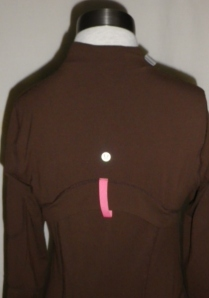 IMGP2972 Lululemon Dark Brown Zippered Jacket Pink Trim 341