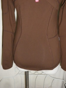 IMGP2973 Lululemon Dark Brown Zippered Jacket Pink Trim 341