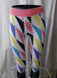 Lululemon Girls Ivivva White Short Pants Orange Multi Color Trim 351