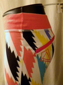 IMGP3344 Lululemon Girls Ivivva White Short Pants Orange Multi Color Trim 351
