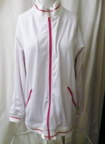 Lululemon Mens White Zippered Jacket Red Trim 380