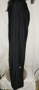IMGP4157 Lululemon Wide Black Stripes Long Pants Waist Drawstring 381