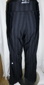 IMGP4166 Lululemon Wide Black Stripes Long Pants Waist Drawstring 381