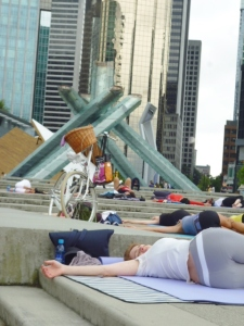 P1060219 Lululemon Free Nooner Summer Yoga Class Vancouver Olympic Cauldron Whit Hornsberger 9