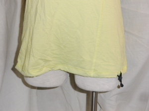 IMGP6837 Lululemon Yellow Silverescent Short Sleeve Top Grey Trim Drawstring Waist 475