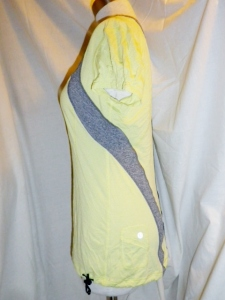 IMGP6838 Lululemon Yellow Silverescent Short Sleeve Top Grey Trim Drawstring Waist 475