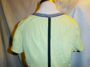IMGP6846 Lululemon Yellow Silverescent Short Sleeve Top Grey Trim Drawstring Waist 475