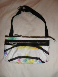 Lululemon White and Multi Color Fanny Pack Black Belt 526
