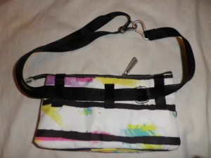 IMGP8002 Lululemon White and Multi Color Fanny Pack Black Belt 526