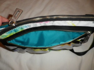 IMGP8012 Lululemon White and Multi Color Fanny Pack Black Belt 526