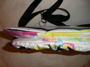 IMGP8014 Lululemon White and Multi Color Fanny Pack Black Belt 526
