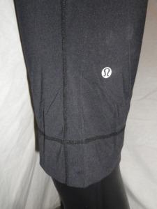 IMGP8101 Lululemon Black Luxtreme Crop Capri Ribbed Waistband Cuffed Leg 548