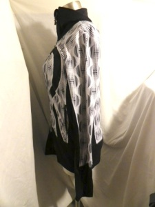 IMGP9478 Lululemon Black White Geometric Pattern Le She Bop Stride Zippered Jacket 573