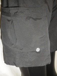 IMGP0450 Lululemon Black Shorts with Shirred Tied Waist Band 581