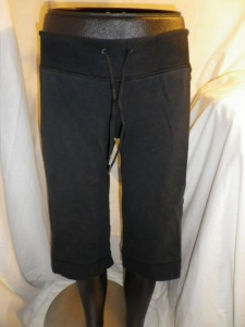 Lululemon Black Drawstring Sweats Long Shorts with Side Panels 592