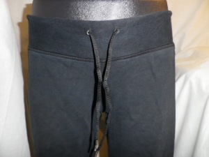 IMGP0514 Lululemon Black Drawstring Sweats Long Shorts with Side Panels 592