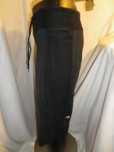 IMGP0516 Lululemon Black Drawstring Sweats Long Shorts with Side Panels 592