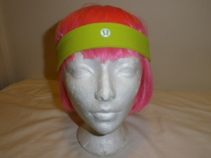 Lululemon Chartreuse Green Headband with Rubber Backing 605