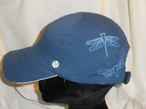 Lululemon Blue Hat Cap with Dragonfly Pattern 604