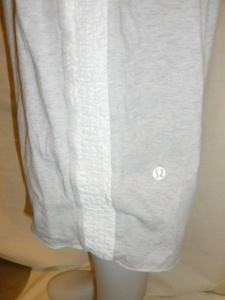 IMGP2454 Lululemon Off White Long Shorts with Shirred Waistband and Sides with Elastic Cuff Waist Band 630