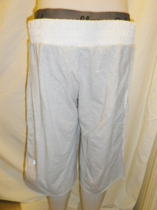IMGP2456 Lululemon Off White Long Shorts with Shirred Waistband and Sides with Elastic Cuff Waist Band 630