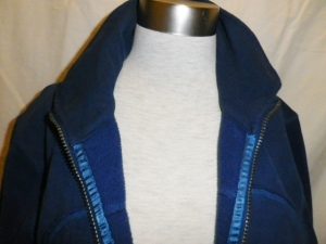 IMGP2495 Lululemon Blue Zippered Fleece Jacket Multi Color White Yellow Pink Burgundy Collar 629