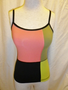 Lululemon Orange, Yellow, Green, Black Tank Top 653